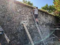Repairing garden wall 1 - 17052018