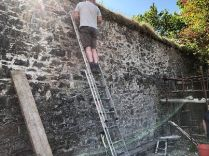 Repairing garden wall 2 - 17052018