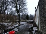 Snow by coach house - 09012020